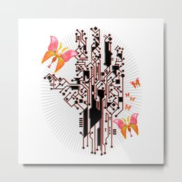 Electric Spring Metal Print