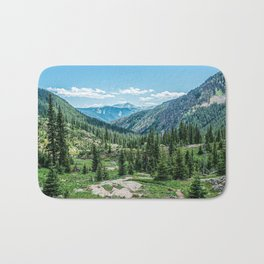 Colorado Wilderness // Why live anywhere else? Amazing Peaceful Scenery with Evergreen Dusted Hills Bath Mat