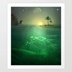 Sea Dragon Rescue Art Print