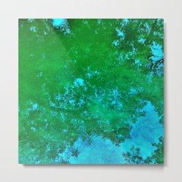 Green Reflections Metal Print