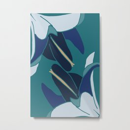 Bellflowers in Blue Metal Print