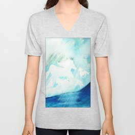 CLOUDS AMIDST THE SEA Unisex V-Neck