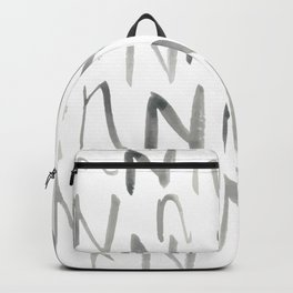 Watercolor N's - Grey Gray Backpack