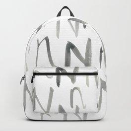 Watercolor N's - Grey Gray Backpack