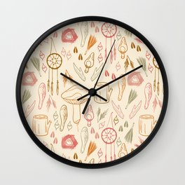 Woodland Doodles Wall Clock