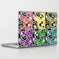 maori Laptop & iPad Skins featuring Maori Kowhaiwhai Pattern by mailboxdisco