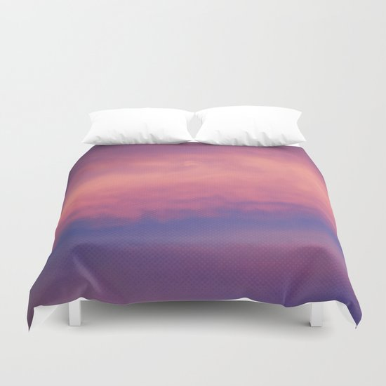 Cotton Candy Sky Duvet Cover