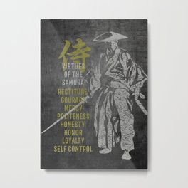 Virtues of Samurai Metal Print