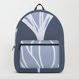 Silvery Blue Ginkgo Leaf Backpack