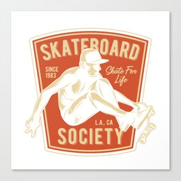 Skateboard Society Canvas Print