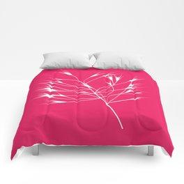 Beautiful pink weeds Comforters