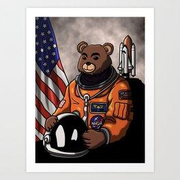Space Bear Portait. Art Print
