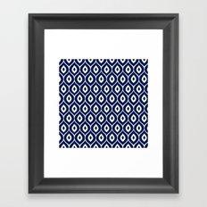 Leela Navy Framed Art Print