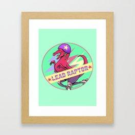 Lead Raptor Framed Art Print