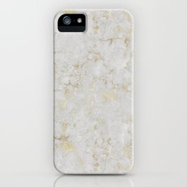 Raw Marble Gold Mine iPhone Case