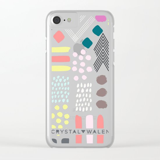 Abstract Geo Pastel Clear iPhone Case