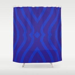 Bluesy Twist Shower Curtain