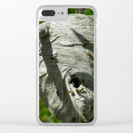Yellow Jacket Nest Clear iPhone Case