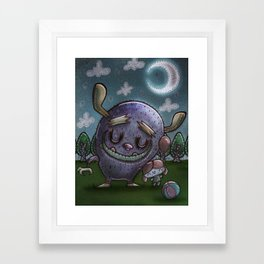 Monster friend Framed Art Print