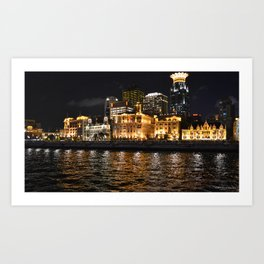 Shanghai Lights Art Print