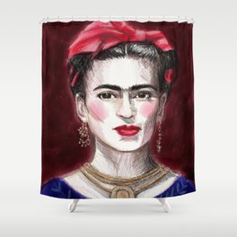 Friday Kahlo classic Shower Curtain