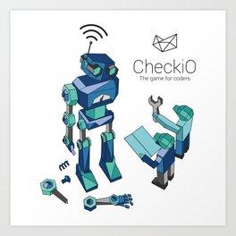 CheckiO robot Art Print