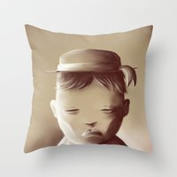 orphan black Throw Pillows featuring The Orphan by Jacques Marcotte