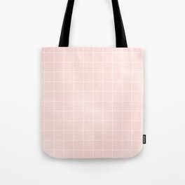 Pink Coral Grid Tote Bag