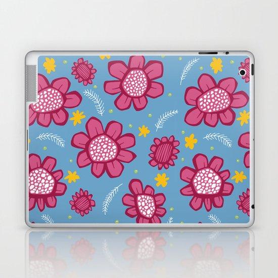 Pop Flowers pink Laptop & iPad Skin