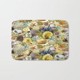 Seashells And Starfish Bath Mat