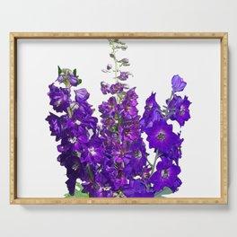 Rich blue-violet Delphinium Serving Tray