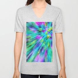 Tie Dye Starburst Unisex V-Neck