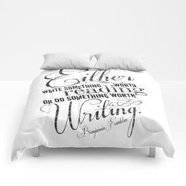 Benjamin Franklin Quote Comforters