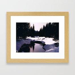 Sierra Nevada Mountains Framed Art Print