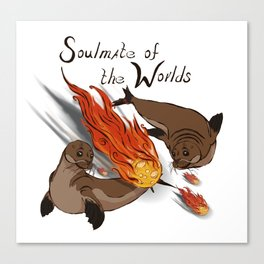 Soul mate of the worlds Canvas Print