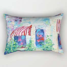 P Street Rowhouses Rectangular Pillow