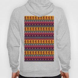 Vintage abstract pink orange geometric aztec chevron pattern Hoody