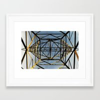 the wire Framed Art Prints featuring Metal Wire by Lia Bernini