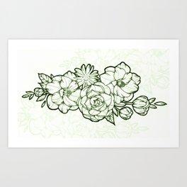 Floral Illustration by Sophi Art Art Print