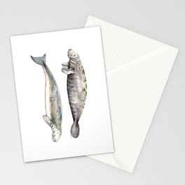 Sea cows: Manatee and Dugong Stationery Cards