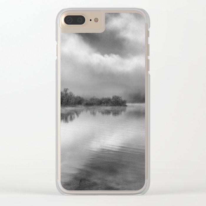 """Looking For Dreams"". Foggy morning Clear iPhone Case"