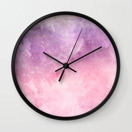 Pink Watercolor Texture Wall Clock