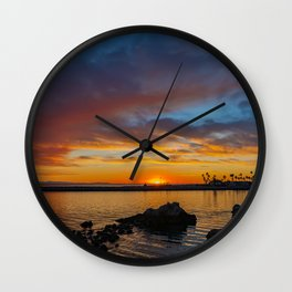 Sunset Rocks at Pirate's Cove Wall Clock