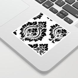 Decorative Damask Art I Black on White Sticker