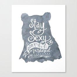 SSDGM Bear Canvas Print