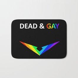 Paladin V Dead & Gay Light Text Bath Mat