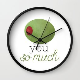Olive You So Much Wall Clock