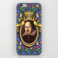 shakespeare iPhone & iPod Skins featuring William Shakespeare by Glenn Designs