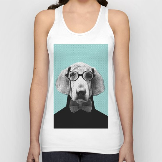 Mr Italian Bloodhound the Hipster Unisex Tank Top