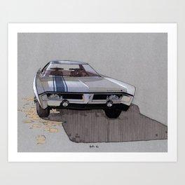 1967 Muscle Car Sketch Art Print